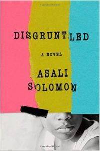 Book cover shows three uneven stripes that are pink, yellow, and blue covering the top half of a Black woman's face