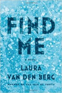 Book cover shows a blue sparkling background that seems like a glitter or water droplet texture