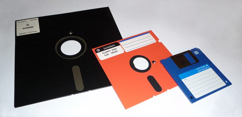 Photo of three different floppy disks