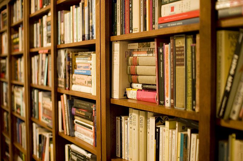Photo of a bookshelf full of books