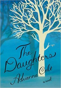 book cover features a blue background with a white tree