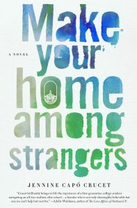 book cover shows the title in a blue and green watercolor gradient text
