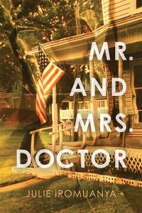 Book cover shows a photo of a house with a wraparound porch and an American flag hanging