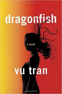 book cover shows a yellow and red vertical gradient in the background with a woman in silhouette with her hair whipping around behind her