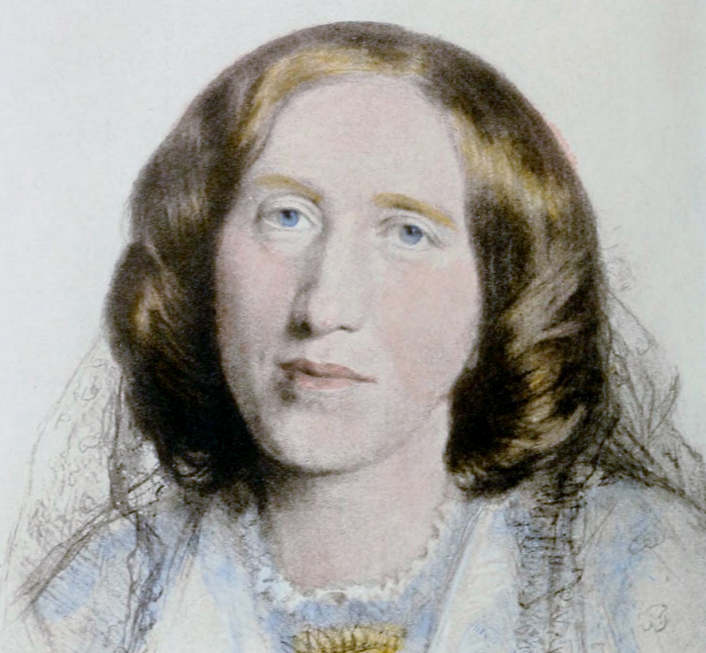 painting of a white woman's portrait