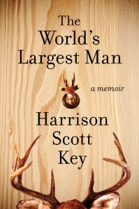 book cover shows a wooden background with antlers at the bottom edge