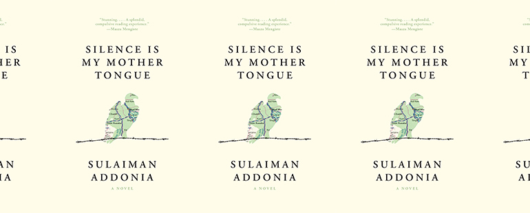 side by side series of the cover of Silence is My Mother Tongue by Sulaiman Addonia