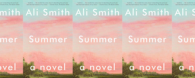 side by side series of the cover of Ali Smith's Summer