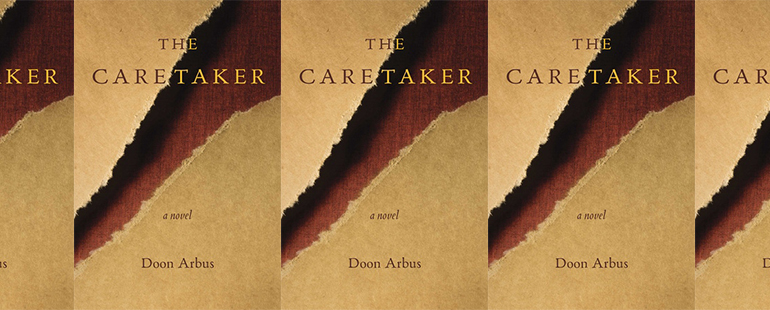 side by side series of the cover of The Caretaker by Arbus