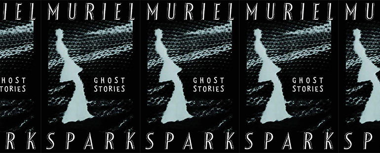side by side series of the cover of Muriel Sparks's Ghost Stories