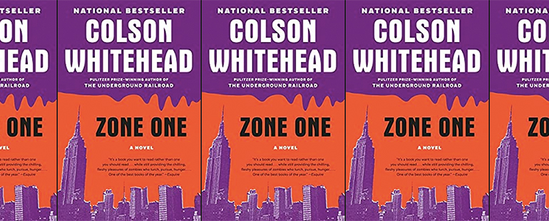 side by side series of the cover of Colson Whitehead's Zone One
