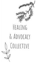"""Poster reading """"Healing & Advocacy Collective"""" with drawing a tree branch hanging"""